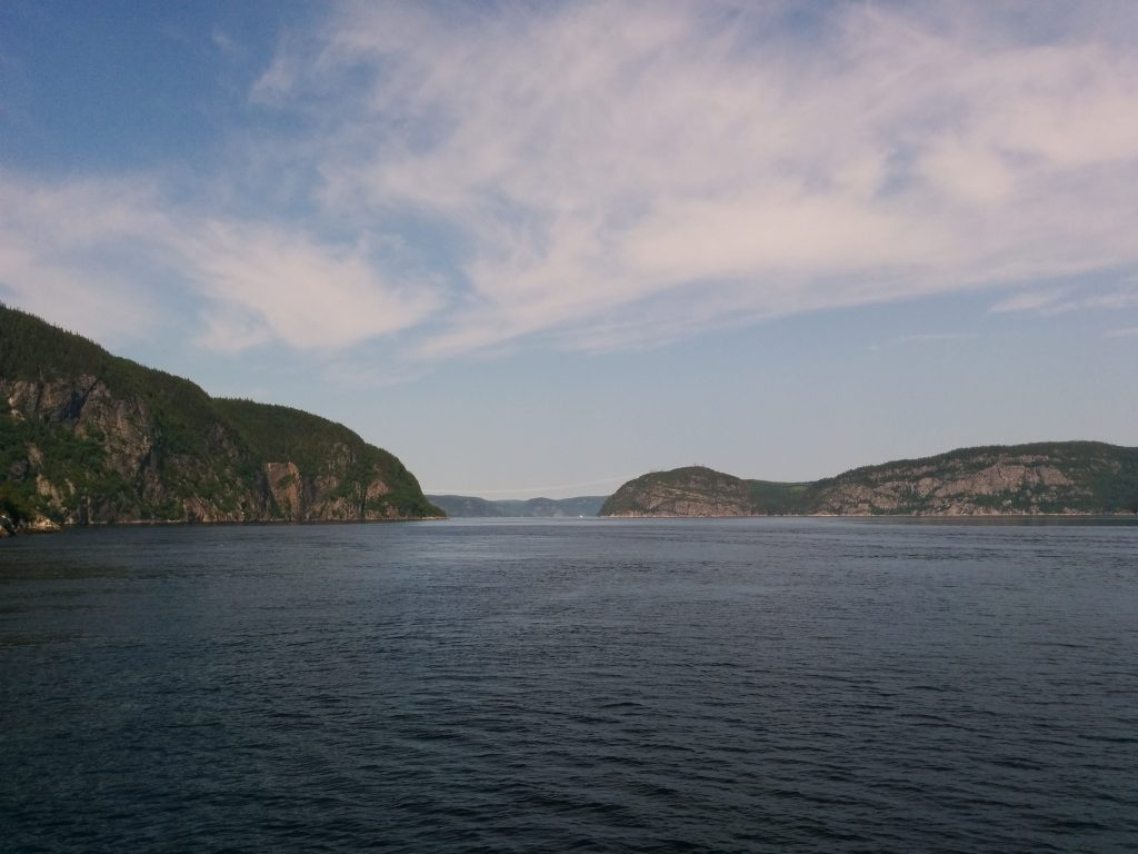 Entering Saguenay Fjord