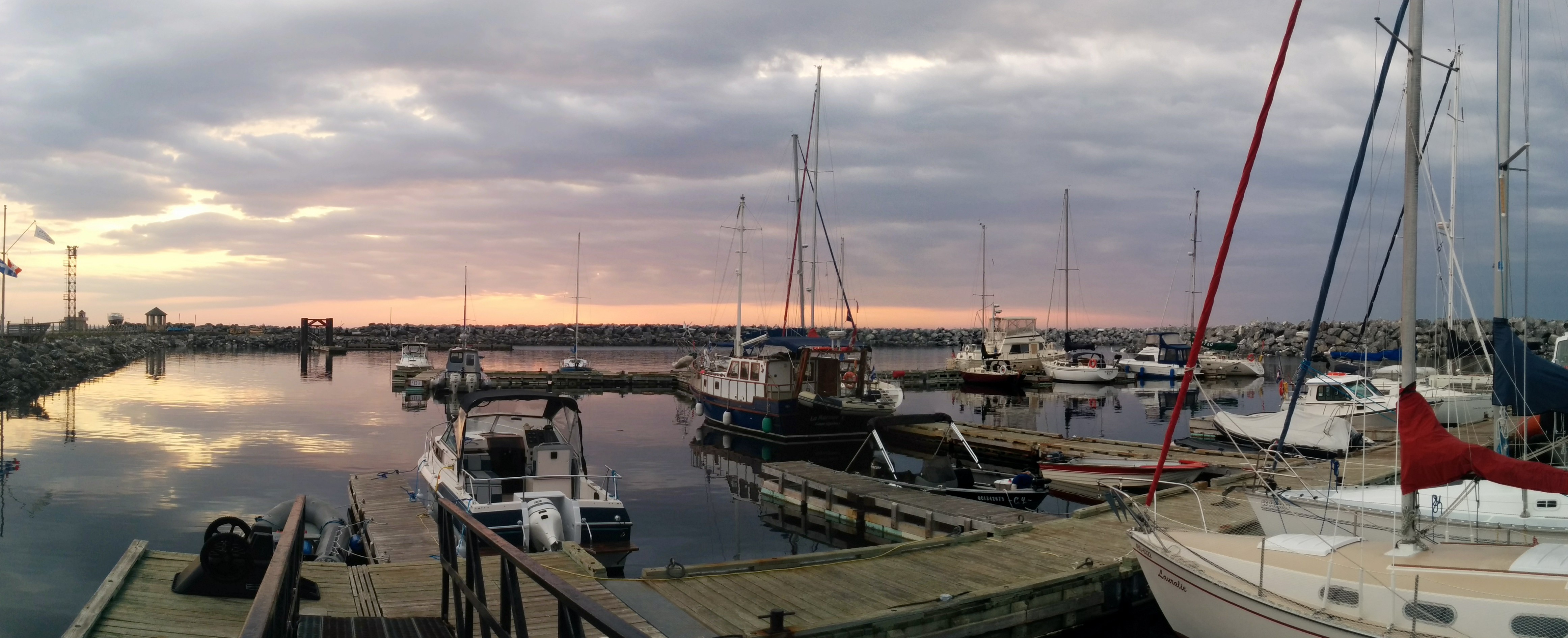Sunset at Sainte-Anne-des-Monts Marina